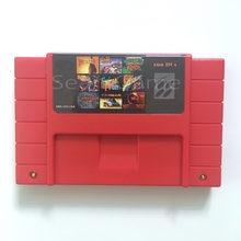 Super 100 in1 vídeo game rolls lutadores/armas selvagens/drácula x para 16bit 46 pinos ntsc console com placa de vídeo cartucho compilação