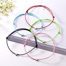 Lucky Silver Golden Star Red String Bracelet For Women Men Kids Adjustable Rope Braided Mom Daughter Couple Gift