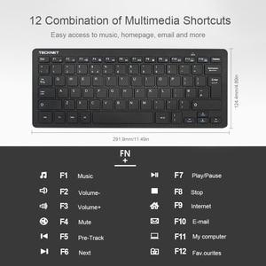 Image 3 - TeckNet Ultra Slim 2.4GHz Cordless Keyboard Wireless Whisper Quiet UK Keyboard For Windows10/8/7/Vista UK Layout Keyboard Design