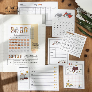 Cartoon Animal Duck Cat Memo Bullet Journa Check List /Weekly Plan To Do List Sticky Note Memo Pads Korean Stationery Notepad