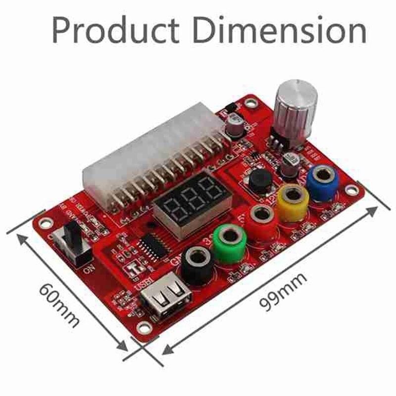 kit adaptador de módulo conector de energia suporte 3.3v 5v 12v adj