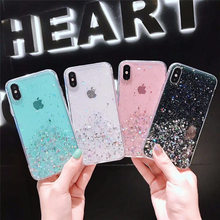 Glitter Bling Sequins Star Gradient color Phone Case For iphone XR X XS Max 7 8 6 6S Plus Soft Cute Shining Powder Cover