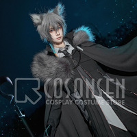 Game Arknights Guard SilverAsh Cosplay Costume Silver Ash Men's Black Delux Halloween Outfit COSPLAYONSEN Custom made