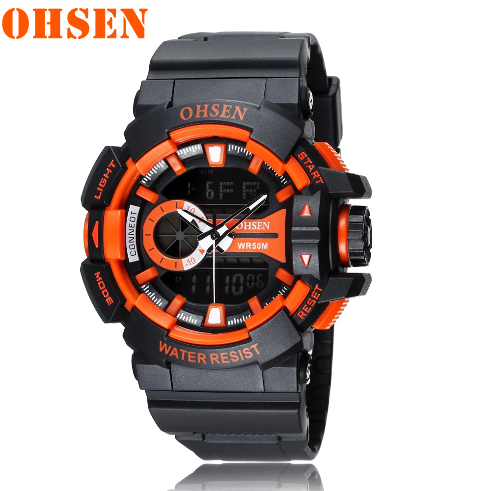 Sports Watches OHSEN Clock Quartz Digital Military Waterproof Men Fashion Luxury Analog
