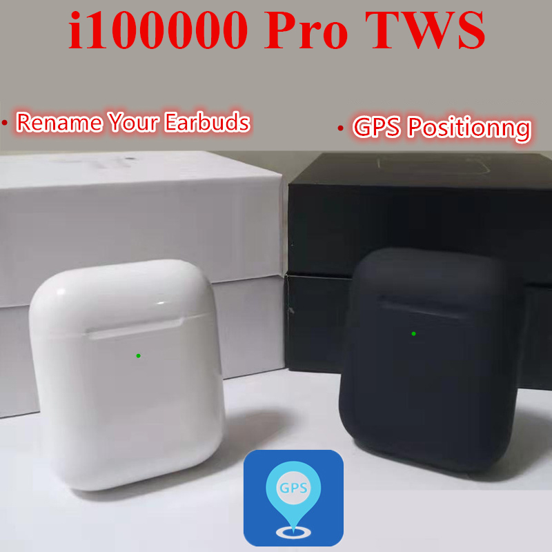 I100000 Pro TWS Change The Name+GPS Positioning Wireless Bluetooth Earphone Smart Sensor Pk I90000 Pro I100000 TWS