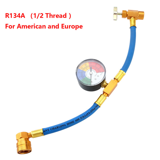 R134A空調冷媒充電ホース用ゲージで車 (1/2 スレッドのアメリカとヨーロッパ)