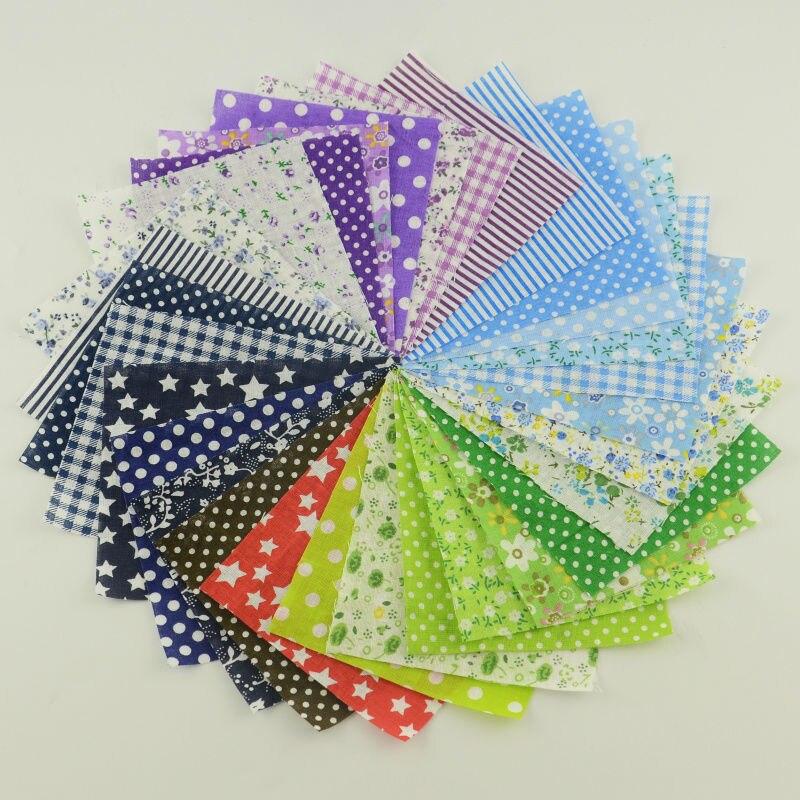 Tissu de Patchwork de serre-livres 30 pièces/lot 10cm x 12cm 100% Tissu de couture de coton