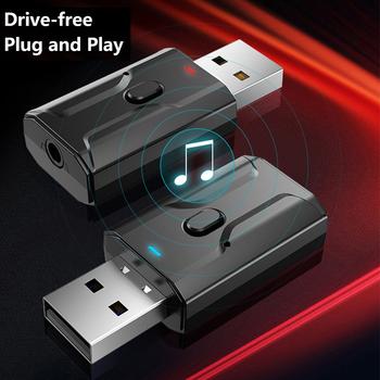 Bezprzewodowy Bluetooth USB 5 0 nadajnik-odbiornik Adapter głośniki muzyczne 3 5mm Stereo AUX samochodowy sprzęt Audio Adapter do TV słuchawki domu tanie i dobre opinie centechia CN (pochodzenie) Brak Podwójne 2 4G + 5G Transmitter Receiver dropshipping wholesale