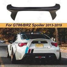 Car styling Carbon Fiber Matte Black Ducktail Rear Wing Spoiler Trunk Spoiler GT86 BRZ FR-S AG Sport Style Spoiler 2013-2019