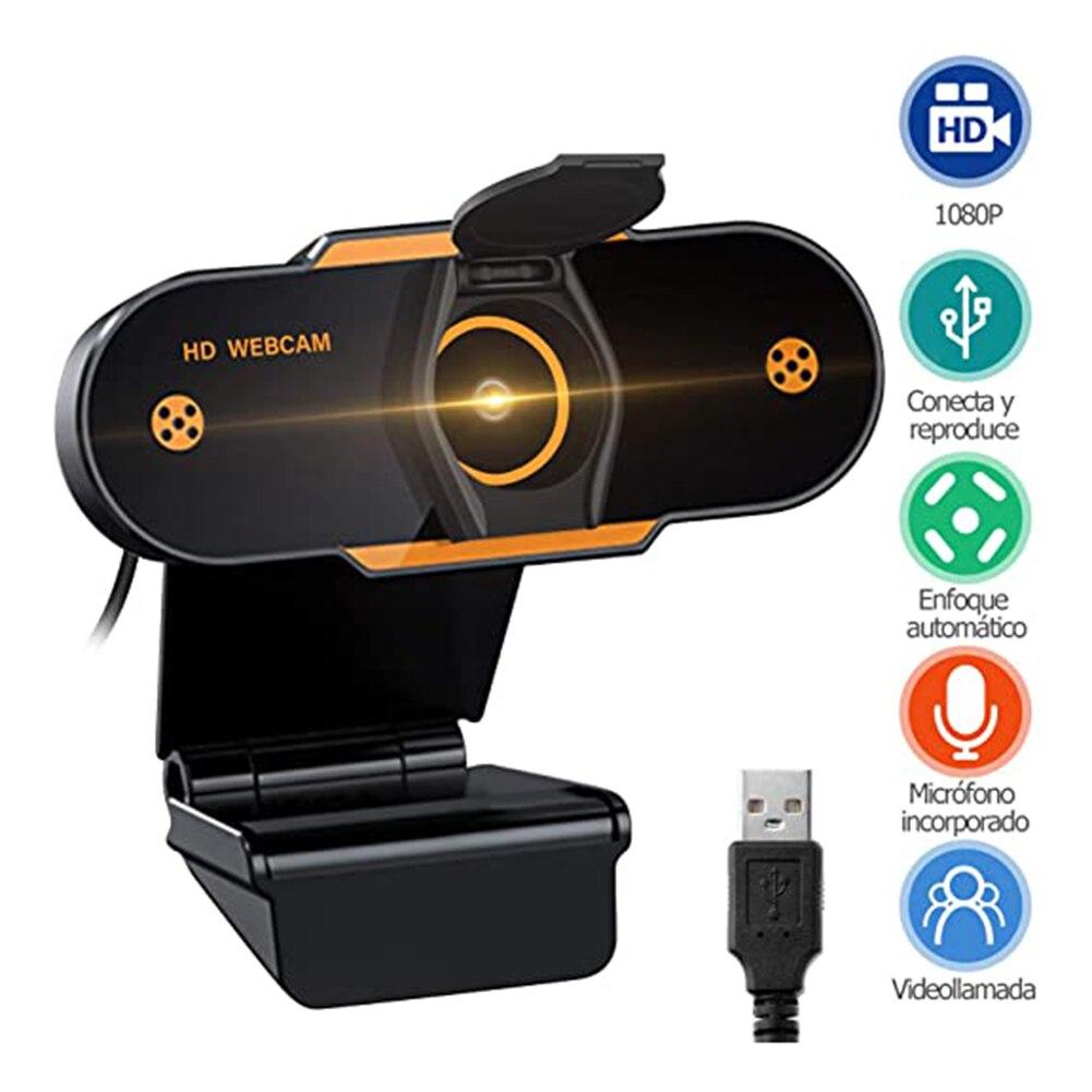 1080P HD CMOS USB 2.0 Web Camera Live Video Online Meeting Teaching Noise Reduction Microphone Computer PC Webcam