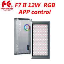 Falcon Eyes F7 II 12W Mini Pocket RGB LED Light On Camera Portable For Video/Studio/Youtube Photography Lighting Fill Lamp