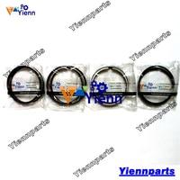 Voor Yanmar 4TN78 4TN78L Zuigerveer Set Graafmachine Loader Truck Tractor Dieselmotor Reparatie Onderdelen