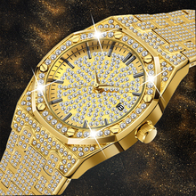 Quartz Watch Men Luxury Brand Diamond Mens Watches Top Brand Luxury FF Iced Out