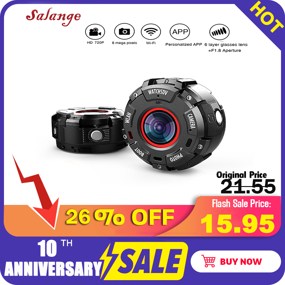 Hot Sale Smart Watch IP68 Waterproof HD1080P WiFi Sport Action Camera Wide-angle Lenses Night Version Smartwatch Camera S222