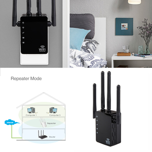 Image 5 - Kebidu 2,4G/5G Беспроводной Wi Fi ретранслятор двухдиапазонный AC 1200 Мбит/с 4 антенны Усилитель мостового сигнала проводной маршрутизатор Wi Fi доступ
