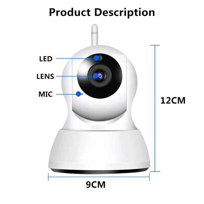 720P HD Wireless Home Security IP WiFi Camera Two Way Audio Baby Monitor Smart Alarm Night Vision CCTV Indoor Camera Monitor