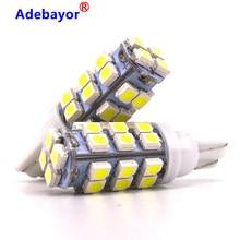 100 adet T10168 194 t10 W5W LED 1210/3528 smd beyaz t10 28 SMD LED kama ampul lamba smd t10 led 12V