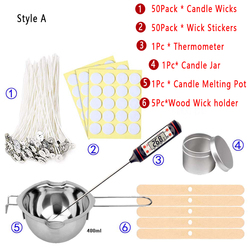 DIY Making Scented Candles Kit Craft Tools 2 Types Of Suits Natural Candle Wick Making Suitable for Beginner Candle Making