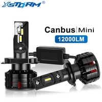 Mini Canbus H4 Led H7 Led H1 H3 H8 H11 HB3 9005 HB4 9006 Lampada Della Nebbia Luci 12000LM Turbo Auto lampadine Automotive