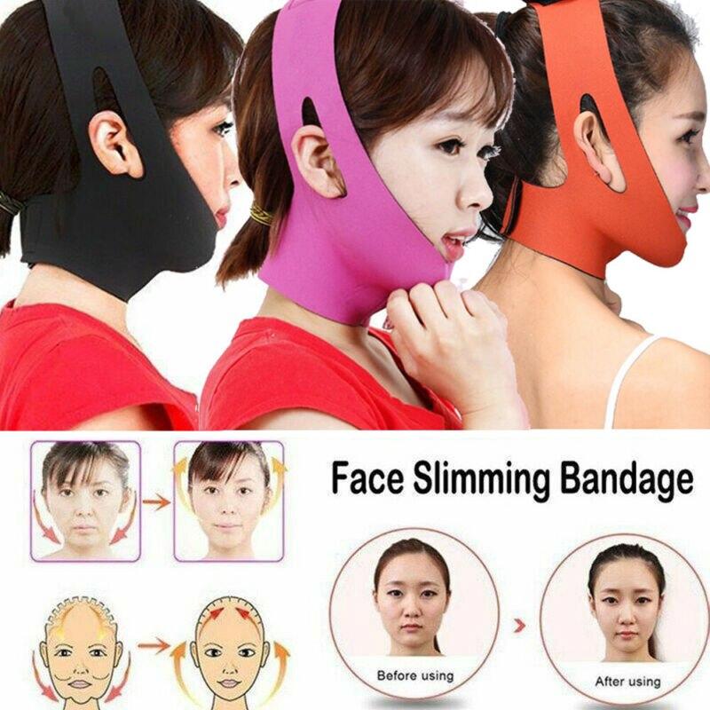 Women Facial Slimming Strap Double Chin Face-lift Bandage Belt