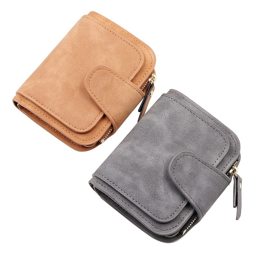 Multi-function Women's Mini Wallet Fashion Zipper Buckle Wallet Ladies Pu Leather Coin Purse Card Clip Dollar Price Portomonee
