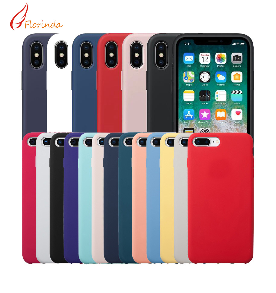 Luxury <font><b>Original</b></font> Silicone Phone <font><b>Case</b></font> For <font><b>iphone</b></font> 11 pro 7 8 Plus For Apple Cover For <font><b>iPhone</b></font> 6 6S Plus <font><b>X</b></font> <font><b>XS</b></font> MAX XR 7 8 No Logo <font><b>Case</b></font> image