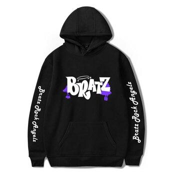 WAMNI NEW Bratz Rock Angelz Hoodie Sweatshirts Men Women Japanese Game Print Hoodie Pullover Unisex Kawaii Harajuku Tracksui