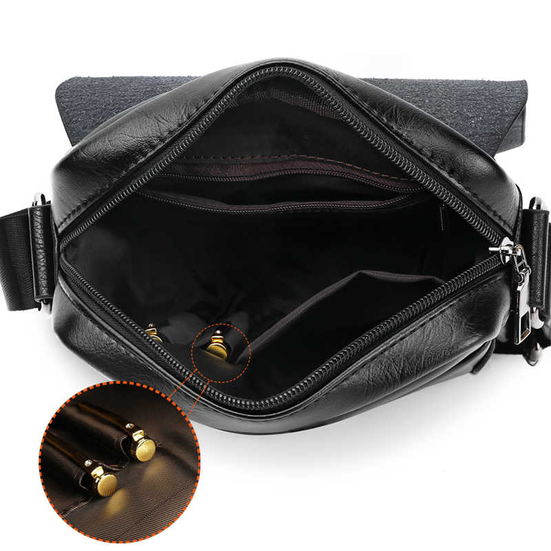 Vicuna Polo Mannen Schoudertas Eenvoudige Patchwork Beroemde Merk Ontwerp Lederen Mens Crossbody Messenger Bag Sling Tassen Bolsa