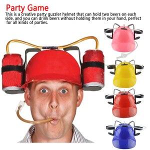 Chapeau de mineurs bière boisson en forme de casque | Soda, casquette de détente, accessoire de jouet Unique et Cool, boisson Holderball gag, paille à boire