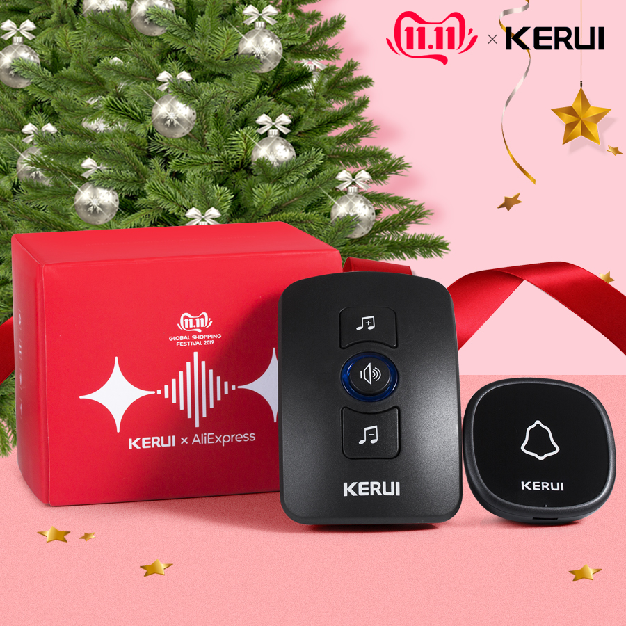 KERUI M525 Home Security Bienvenue Sonnette Sans Fil Smart Chimes - Sécurité et protection - Photo 2