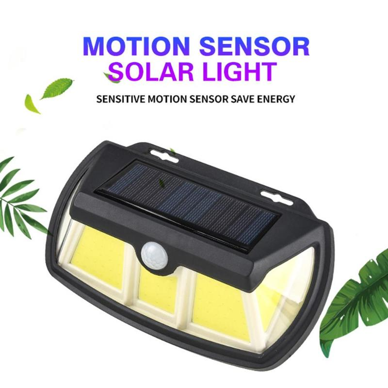 65/110 LED Outdoor Solar Wall Lamp Motion Sensor Waterproof 3 Sided Lights Angle Wall Lamp Waterproof Outdoor Yard Lamps