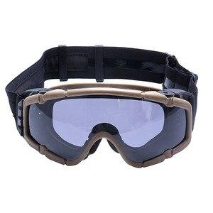 Image 2 - FMA טקטי Si בליסטי נגד ערפל משקפי עם מאוורר נגד אבק חיצוני Airsoft פיינטבול בטיחות משקפיים Eyewear עם 2 עדשה