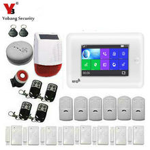 SmartYIBA APP Control 4.3 Inch Wireless Wifi GSM Home Security Alarm System Smoke Fire Anti-theft Protection Alarm Detector