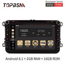 Автомобильный мультимедийный плеер topbsna на android 81 для