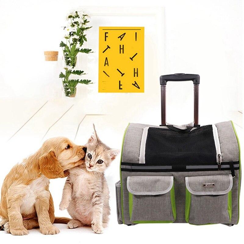 Transporteur de chien de compagnie sacs à dos chat de compagnie transporteur de voyage en plein air sac à bandoulière pliable pour animaux de compagnie sac à bandoulière Portable pour chat