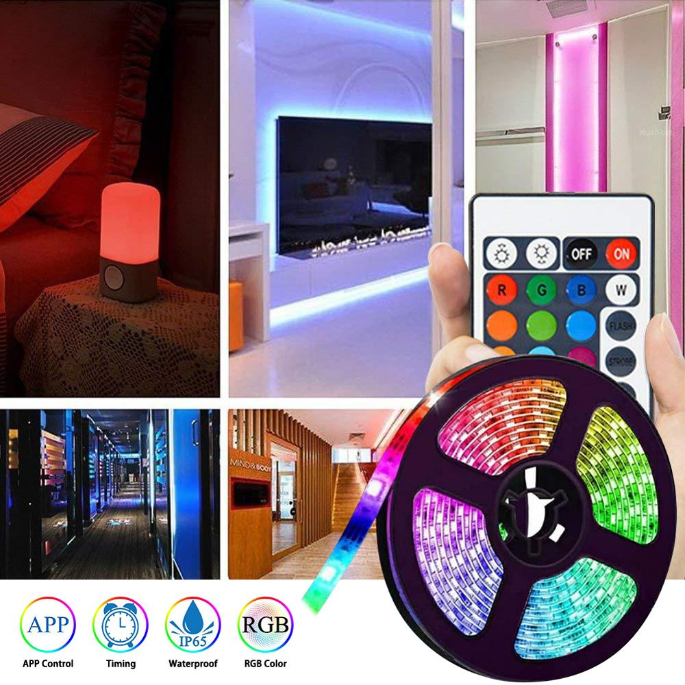 5M 5050 RGB LED Tape Lights Flexible Changing LED Strip Lights With WIFI Remote For TV Bedroom Party Home Lighting Kitchen Bar