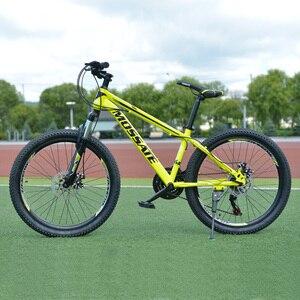 24-дюймовый горный велосипед с высокоуглеродистой стальной рамой велосипеда 21 скорость велосипеда амортизация передний и задний механичес...