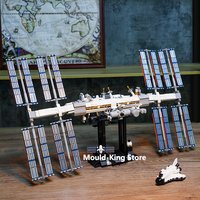 2020 Nieuwe Ideeën Internationale Lunar Ruimte Station Compatibel 21321 Bouwstenen Satelliet Rocket Speelgoed Voor Kinderen Kind Jongens Gift