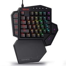 Redragon K585 DITI с одной рукой RGB Механическая игровая клавиатура 42 клавиши синий переключатель LED левая рука мини клавиатура для мобильных игр