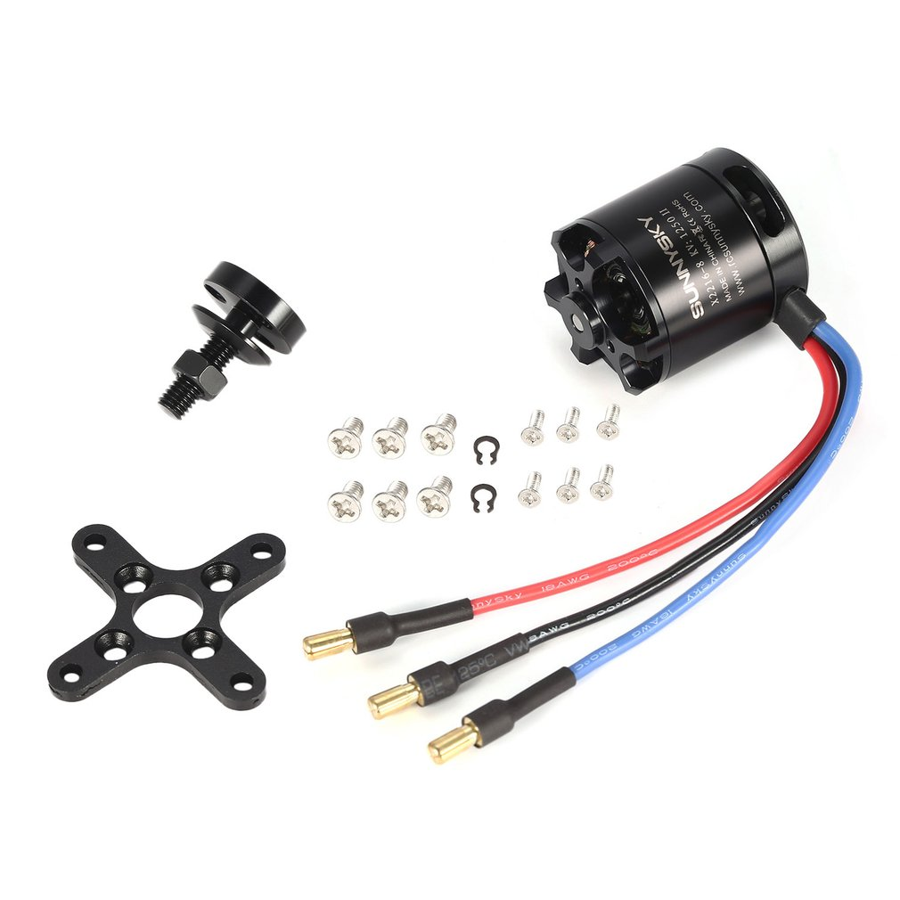 <font><b>SUNNYSKY</b></font> <font><b>X2216</b></font> <font><b>1250KV</b></font>/880KV II 3.175mm 2-4S Outrunner Brushless Motor for RC Drone 400-800g Fixed-wing 3D Airplane Multirotor image
