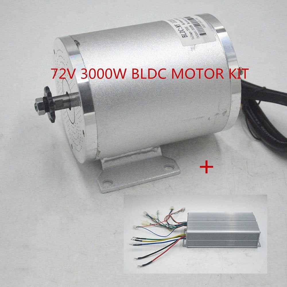 72V 3000W BLDC moteur Kit avec contrôleur sans brosse pour Scooter électrique E vélo e-car moteur moto partie