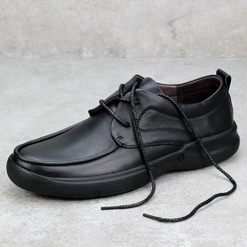2020 New Genuine Leather Men's Casual Shoes Large Size 45 46 47 48 Widened Round Head British Lace-Up Handmade Men Shoes