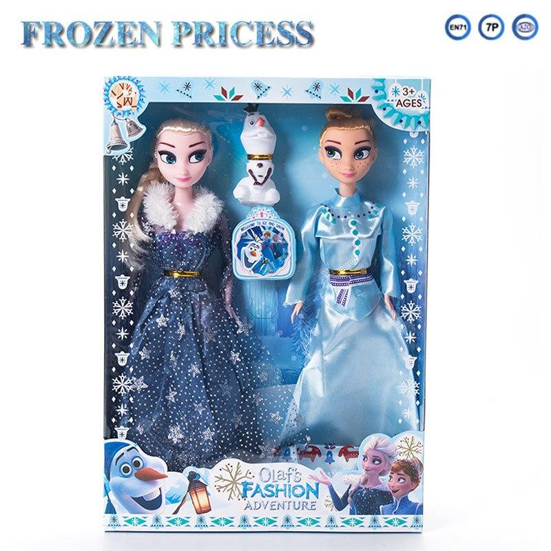 3pcs/set Disney New Cartoon Anna Elsa Frozen 2 Doll Children Baby Girls Plush Toys Action & Toy Figures Plastic Toys