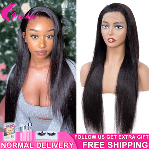 """13x4 Lace Front Human Hair Wigs For Black Women 10""""-24"""" Inch 150 Density Brazilian Straight Hair Natural Color Remy Piaoyi Hair(China)"""