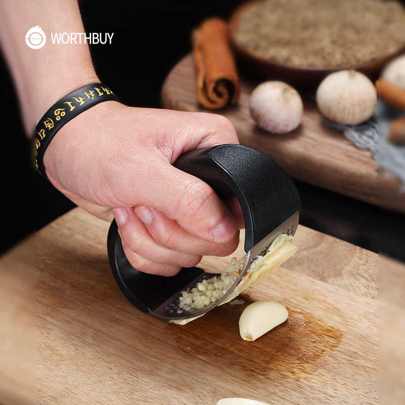 SFASTER Prensa de ajo de acero inoxidable Manuel Garlic Rocker de ahorro de mano de obra trituradora de jengibre 304 herramienta de cocina de acero inoxidable de alimenticio f/ácil de usar y limpiar