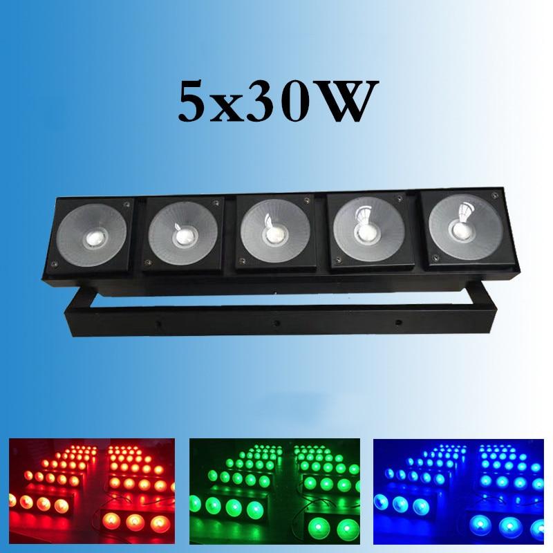Diodo emissor de luz 5x30w matriz de iluminação para a escola 3 en 1 rgb cinco cabezas dj matriz diseño de luz bueno para dj/dmx profesional il