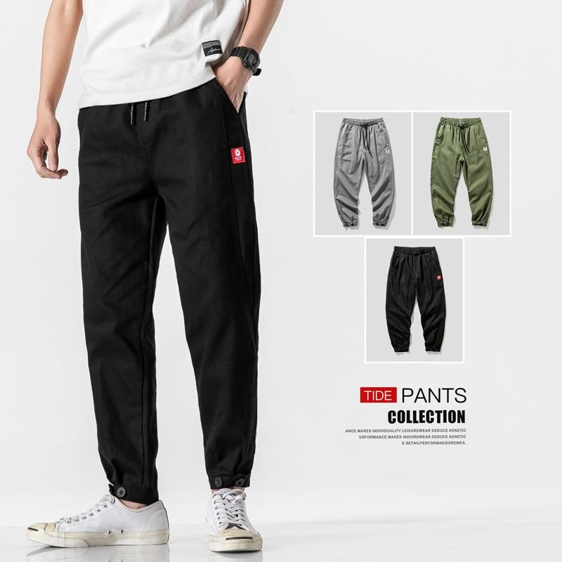 Casual Mens Joggers Pants Side Multi-Pockets Cargo Pants Streetwear Mens Tracksuit Trousers Man Sweatpant Male Designer Trousers