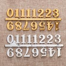 1 комплект золотой и серебряный DIY цифровой сменный гаджет ремонт часов части часы «арабский номер» часы с колокольчиком цифры часы аксессуары