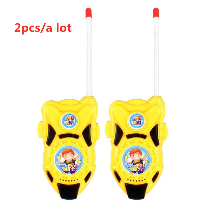 2pcs Mini Kids Walkie Talkies Toy Electronic Radio Transceiver Voice Call Walkie-talkie Outdoor Portable Communicator 80-100M