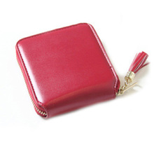 цены Women Small Wallets Tassel Pendant Short Money Wallets PU Leather Lady Zipper Coin Pocket Purses Female Card bag 2019 Spring